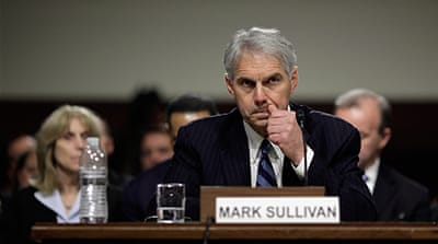 Mark Sullivan testified before the Homeland Security and Governmental Affairs Committee [AFP]