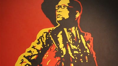 "The painting, which shows Zuma's genitals, has been described as ""sadistic"" by his supporters."