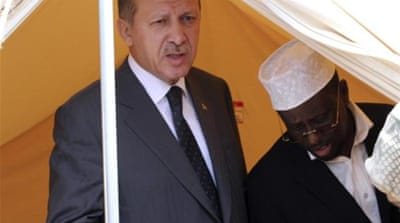 Turkish Prime Minister Erdogan is reportedly increasingly well received in Somalia [REUTERS]