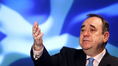 First Minister Alex Salmond aims to collect one million signatures supporting independence [GALLO/GETTY]