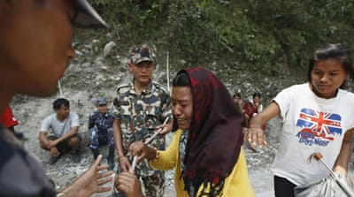 Rescuers in Nepal's central Annapurna region after said that there was almost no hope of finding survivors [AFP]