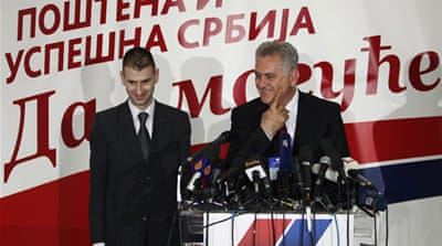 Nikolic, right, was standing for the Serbian presidency for the third time after twice losing to Boris Tadic [Reuters]