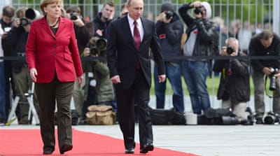 Before arriving in Germany and France, Russian President Vladimir Putin was in Belarus on an official visit [Reuters]