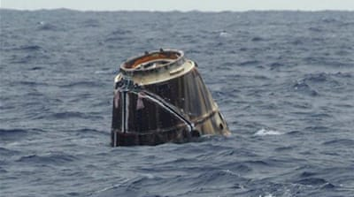 SpaceX capsule returns from landmark mission