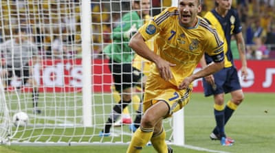 Thirty-five-year-old Shevchenko thrilled the crowd in Kiev with two great headers giving his side a serious chance of advancing from Group D [Reuters]