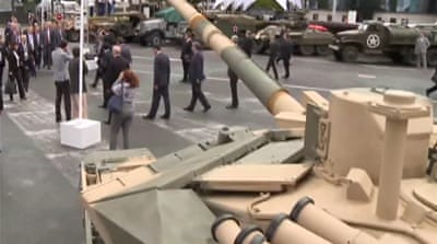 Russians show up at France arms fair