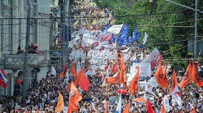 Thousands in Moscow march against Putin