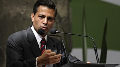 Presidential candidate Enrique Pena Nieto wants a new approach to the war on drugs [Reuters]