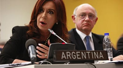 Kirchner has launched a wide-ranging diplomatic offensive to assert her country's claims to the Falklands [Reuters]