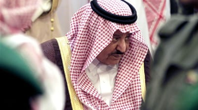 Nayef, whose death was announced on Saturday, was the second Saudi crown prince to die in less than a year [EPA]