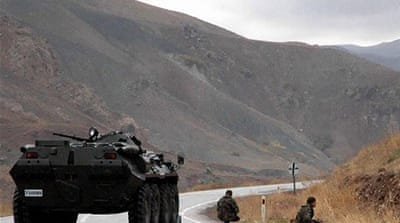 Eight Turkish soldiers were killed and 16 wounded in PKK attacks on three army outposts in the southeast [EPA]