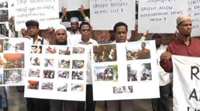 Myanmar Rohingya hold protest in Bangkok