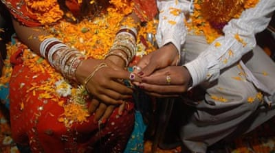 Forced marriages are to be formally outlawed in the UK, but experts say the law may not be enforceable [EPA]
