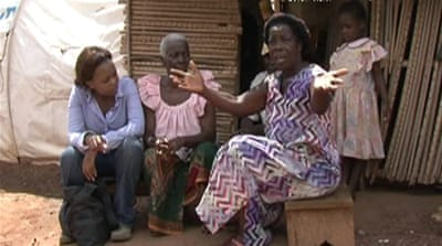 Ivory Coast families waiting to go home