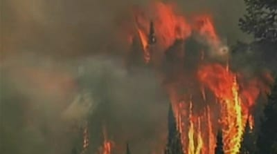Thousands displaced by Colorado wildfire