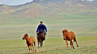 In pictures: Scenes from Mongolia