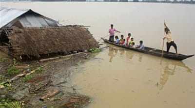 Incessant rains in northeast India have caused massive flooding and landslides [Reuters]