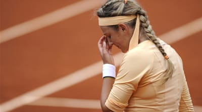 Cibulkova had reached the French semi-finals three years ago and had lost seven times to Azarenka in eight previous meetings [EPA]