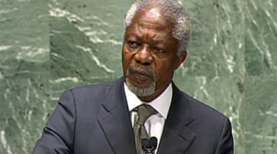 Kofi Annan proposes Syria 'unity government'