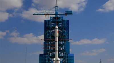The launch is China's first manned space mission since September 2008  [Reuters]