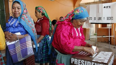 Mexico voting under way for new president
