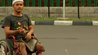 Disabled struggle for a place in Jakarta