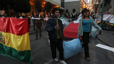 Bolivian president, Evo Morales, gave into protester demands regarding Canada's South American Silver Corp [EPA]