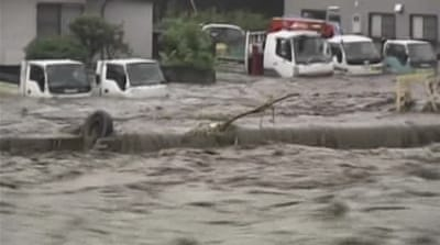 Japan island ravaged by deadly floods