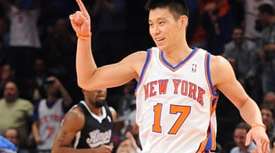 The 23-year-old point guard became an international phenomenon when he joined the Knicks last season [EPA]