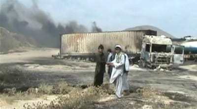Taliban claim attack on NATO fuel tankers
