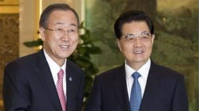 UN Secretary General Ban Ki-moon Ban is officially in Beijing for a China-Africa summit [Reuters]