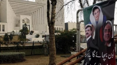 Yousuf Raza Gilani was barred from holding office after he was found guilty of contempt of court [EPA]