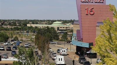 Some 71 people were injured at this cinema in Aurora, Colorado, in the latest mass shooting in the US [AP]