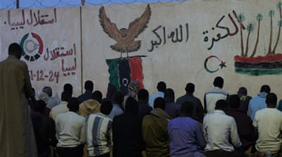 The Libyan army organised a mass deportation from Murzuq prison last month [Rebecca Murray/Al Jazeera]