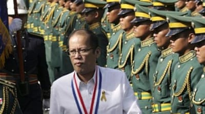 "President Aquino said he does not ""think it excessive to ask that our rights be respected"" [AP]"