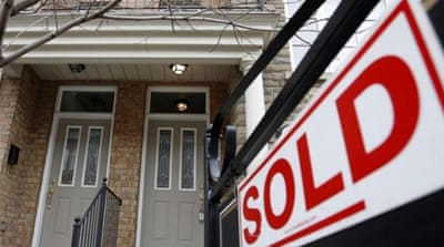 In Canada, the average house price is more than 70 per cent higher than in the United States [REUTERS]