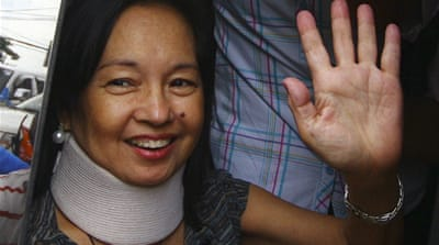 Gloria Arroyo could be back in detention if government lawyers gain another arrest warrant over graft  [Reuters]
