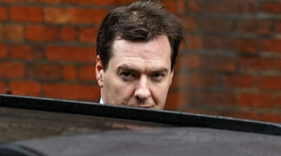 "George Osborne said figures released showed Britain had ""deep-rooted economic problems"" [AP]"
