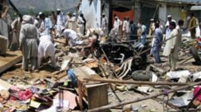 The bomb exploded in the Pasht bazaar of Salarzai in the Bajaur district [EPA]