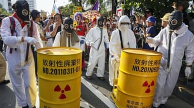 Protests against the use of nuclear power have spread all over the country since the Fukushima disaster [EPA]