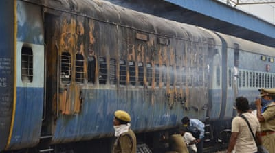 Dozens killed in southern India train fire