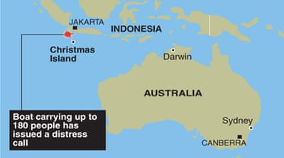 Boat is latest in a series of asylum-seeker vessels attempting to reach Australia's territory of Christmas Island [AFP]