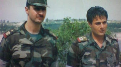 Manaf Tlas, son of former defence minister, attended military college with Assad [syrianhistory.com/Al Jazeera]