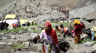 Hindu pilgrims' journey of faith in Kashmir
