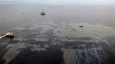 Gallons of oil crude began seeping from cracks in the ocean floor at a Chevron appraisal well in November 2011 [EPA]