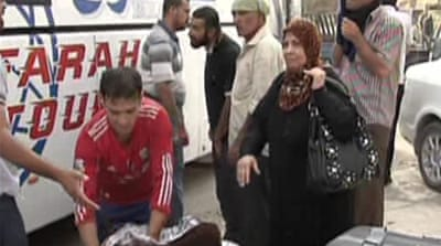 Iraqi refugees flee Syria violence