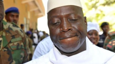 Yahya Jammeh overthrew The Gambia's democratically elected president in a coup d'etat in 1994 [AFP]