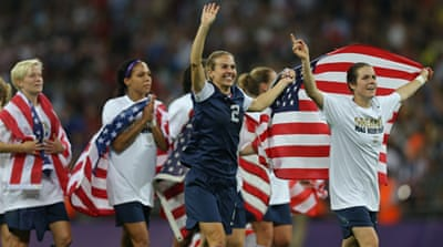 Olympic gold, but what now? The USA's domestic women's football league is defunct with plans for a new league still up-in-the-air [EPA]