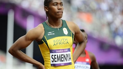 BBC pundit and former 110m hurdle champion Colin Jackson had speculated that Semenya, far left, had tried not to win to avoid more controversy [EPA]