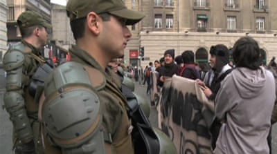 Chile student protesters face new threat